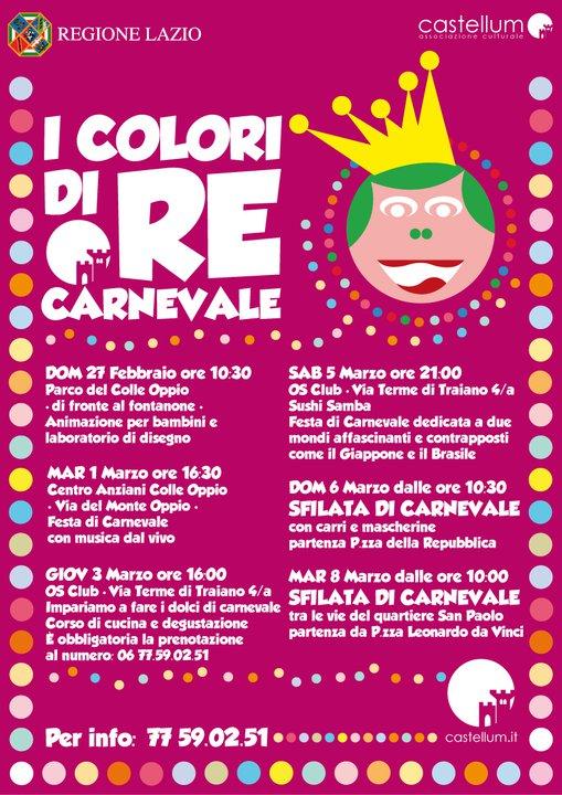 I Colori di Re Carnevale 2011 iniziative