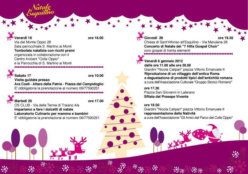Natale Esquilino 2011 iniziative
